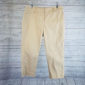 WHBM Perfect Form Contour Straight Crop Pant Sz 10